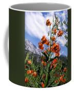 Leopard Lilies Below Lassen Peak Coffee Mug