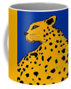 Leopard On Blue Coffee Mug