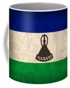 Lesotho Flag Vintage Distressed Finish Coffee Mug