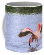 Lesser Flamingo Filter Feeding Lake Nakuru Kenya Coffee Mug