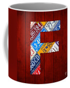 Letter F Alphabet Vintage License Plate Art Coffee Mug