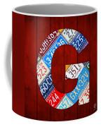Letter G Alphabet Vintage License Plate Art Coffee Mug