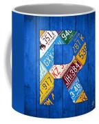 Letter R Alphabet Vintage License Plate Art Coffee Mug