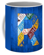 Letter R Alphabet Vintage License Plate Art Coffee Mug by Design Turnpike