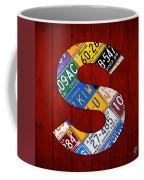 Letter S Alphabet Vintage License Plate Art Coffee Mug