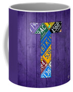 Letter T Alphabet Vintage License Plate Art Coffee Mug