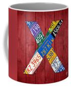 Letter X Alphabet Vintage License Plate Art Coffee Mug