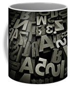 Letters And Numbers Gray Tones Coffee Mug