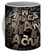 Letters And Numbers Sepia 2 Coffee Mug
