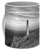 Levant To Pendeen View Black And White Coffee Mug
