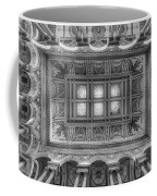 Library Of Congress Main Hall Ceiling Bw Coffee Mug