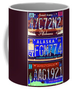 License Plate Coffee Mug