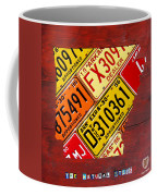 License Plate Map Of Arkansas By Design Turnpike Coffee Mug by Design Turnpike
