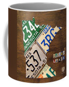 License Plate Map Of Minnesota By Design Turnpike Coffee Mug