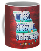 License Plate Map Of Missouri - Show Me State - By Design Turnpike Coffee Mug by Design Turnpike