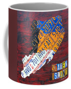 License Plate Map Of Staten Island New York Nyc Coffee Mug