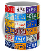 License Plates Of The Usa - Our Colorful American History Coffee Mug