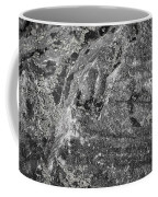 Lichen On The Whistlers - Black And White Coffee Mug