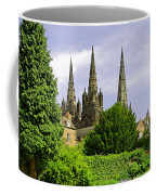 Lichfield Cathedral From The Garden Coffee Mug