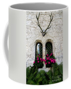 Lichtenstein Castle Windows Wall And Antlers - Germany Coffee Mug