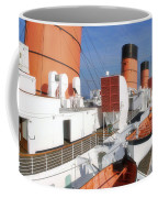 Life Boats 02 Queen Mary Ocean Liner Port Long Beach Ca Coffee Mug
