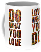 Life Love Acrylic Palette Knife  Coffee Mug