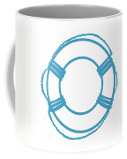 Life Preserver In Turquoise And White Coffee Mug