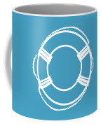 Life Preserver In White And Turquoise Blue Coffee Mug