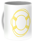 Life Preserver In Yellow And Whtie Coffee Mug