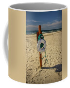 Life Preserver On The Beach In Pentwater Michigan Coffee Mug
