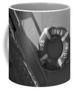 Life Ring Uss Iowa Battleship Bw Coffee Mug