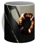 Life Ring Uss Iowa Battleship Sepia Coffee Mug