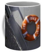 Life Ring Uss Iowa Battleship Coffee Mug