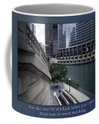 Life Will Flash Before Your Eyes Blue Background Coffee Mug