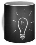 Light Bulb On A Chalkboard Coffee Mug