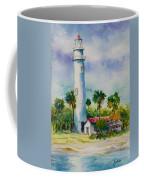 Light House At The Beach Coffee Mug