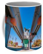Light Rail Train Station In   Charlotte Nc Coffee Mug