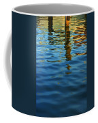 Light Reflections On The Water By A Dock At Aransas Pass Coffee Mug