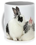 Light Sussex Bantam Hen And Rabbit Coffee Mug