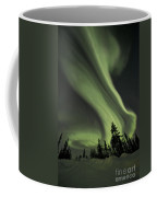 Light Swirls Over The Midnight Dome Coffee Mug by Priska Wettstein