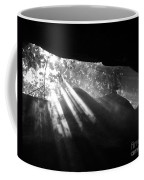 Light Through Mist In Cave Coffee Mug