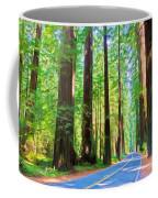 Light Through The Redwoods Coffee Mug