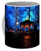 Lighted Gazebo Sunset Park Coffee Mug
