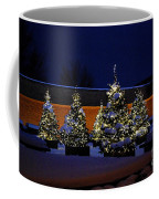 Lighted Trees With Snow Coffee Mug