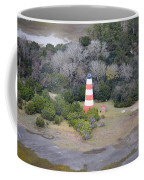 Lighthouse Aerial Near Jekyll Island Coffee Mug