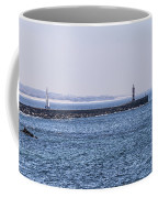 Lighthouse And A Sailing Boat Coffee Mug