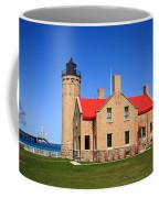 Lighthouse And Mackinac Bridge Coffee Mug