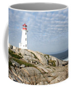 Lighthouse At Peggys Point Nova Scotia Coffee Mug