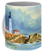 Lighthouse At Portland Head Maine Coffee Mug
