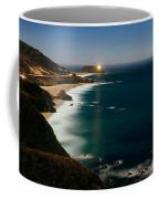 Lighthouse At The Coast, Moonlight Coffee Mug